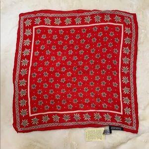 Vintage Passigatti red floral silk Italian scarf